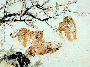 Большие кошки в искусстве - тигры