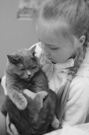 дети и животные - дружба
